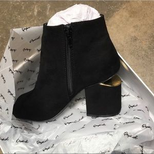 Shoes - Black Peep-Toe Ankle Boots